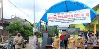 Persiapan rapid test di sejumlah posko perbatasan di Kabupaten Gowa. (Foto: berita.news/Putri)