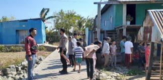 TKP Dg Sija (43) di Takalar membacok tetangganya, Padangan Dg Rowa (43) karena menduga istrinya diganggu. (Foto: detik.com)