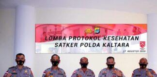 Para pemenang lomba Implementasi Protokol Kesehatan yang diselenggarakan Polda Kalimantan Utara. (Foto: berita.news/ist).