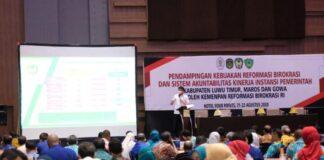 Kegiatan Pendampingan Kebijakan Reformasi Birokrasi SAKIP oleh Kemenpan RB RI di Hotel Four Points By Sheraton Makassar. (Foto: berita.news/Putri).