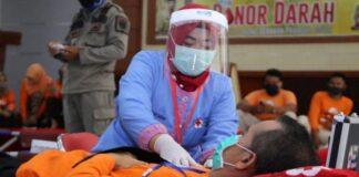 Aksi donor darah yang digelar Gerakan Pramuka bersama PMI Kabupaten Gowa. (Foto: berita.news/ist).