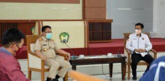 Pjs bupati Gowa saat menerima kunjungan KPu Gowa. (Foto: berita.news/Putri).
