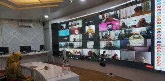Rakor penyusunan APBD 2021 yang dilakukan secara virtual. (Foto: Berita.news/Putri)