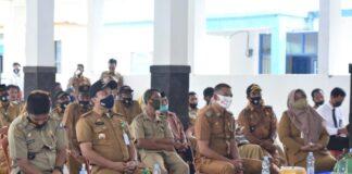 Sosialisasi Penyaluran Pupuk Bersubsidi dan Kartu Tani di Kecamatan Bontonompo dan Bontonompo Selatan. (Foto: berita.news/Putri).