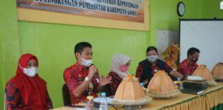 Sosialisasi Program One Student One Account (OSOA) yang berlangsung di Aula Pertemuan SD Negeri Limbung Putri dan Aula Kantor Kecamatan Bajeng. (Foto: berita.news/Putri).