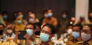 Pjs Bupati Gowa, Aslam Patonangi saat mengikuti Musrenbang Rencana Pembangunan Jangka Menengah Daerah (RPJMD) Pemerintah Provinsi Sulawesi Selatan, di Hotel Claro Makassar. (Foto: berita.news/ist)