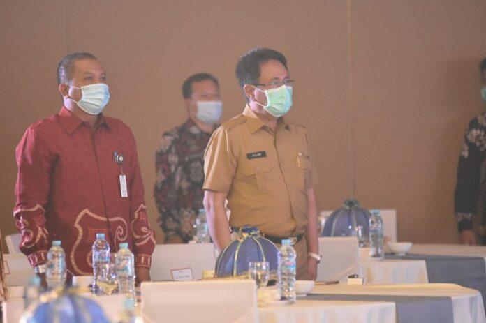Acara Puncak Bulan Inklusi Keuangan yang digelar oleh Otoritas Jasa Keuangan (OJK) Regional 6 Sulampapua di Maccora Ballroom Hotel The Rinra, Makassar. (Foto: berita.news/Putri)