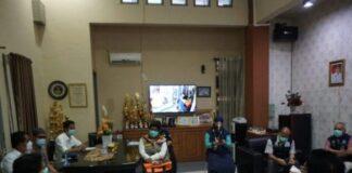 Kunjungan Tim Pusat Krisis Kesehatan, Kementerian Kesehatan Republik Indonesia (Kemenkes RI) ke Kabupaten Gowa. (Foto: berita.news/Putri).