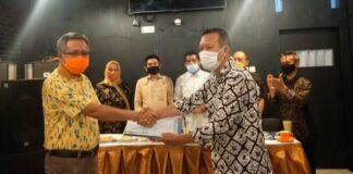 Ketua DPC KKb Gowa Terpilih, Ismail Majid (kiri). Foto: berita.news/ist)