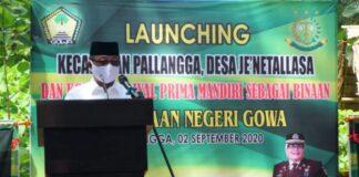 Wakil bupati gowa, Abdul Rauf Malaganni saat menghadiri launching giat kejari di Kecamatan Pallangga. (Foto: berita.news/Ist).
