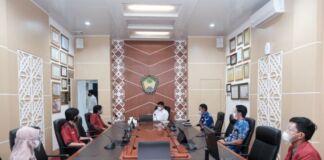 Audiens Ikatan Mahasiswa Muhammadiyah (IMM) Kabupaten Gowa, di Ruang Rapat Bupati Gowa. (Foto: berita.news/Putri).