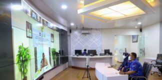 Rapat Koordinasi dan Silaturahmi Forum Sekretaris Daerah Se-Indonesia (Forsesdasi) Tahun 2021 secara virtual zoom di Peace Room A'Kio Kantor Bupati Gowa. (Foto: berita.news/Putri).