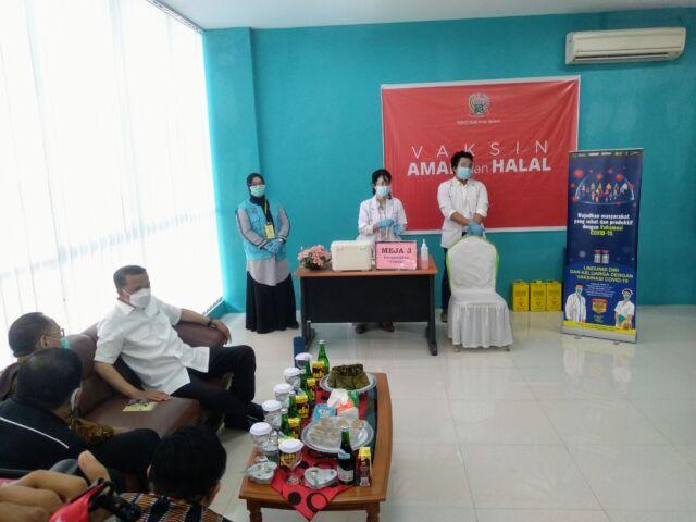 Gubernur Nurdin jalani Vaksinasi Covid-19 Tahap Dua (BERITA.NEWS/Andi Khaerul).