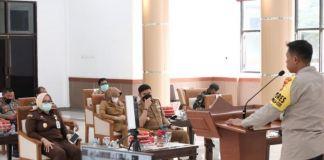 Rapat Koordinasi Penegakan Pendisiplinan Protokol Kesehatan tingkat Kabupaten Gowa. (Foto: berita.news/Putri).