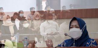 Rapat Koordinasi Persiapan Penyaluran Program Sembako untuk Bulan Februari Tahun 2021 di Baruga Karaeng Galesong, Kantor Bupati Gowa. (Foto: berita.news/Putri)