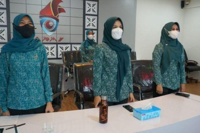 Tim penggerak PKK Kabupaten Gowa siap sukseskan vaksinasi covid-19 di Kabupaten Gowa. (Foto: berita.news/Putri).