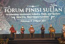 Plt Gubernur Andi Sudirman saat hadiri Pinisi Sultan.