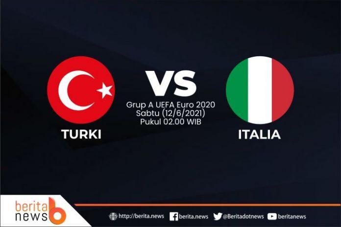 UEFA Euro 2020 Turki vs Italia. (Foto: Berita.news/Mulawarman)